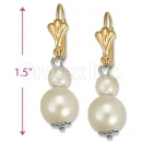 Orotex Gold Layered Pearl Earrings