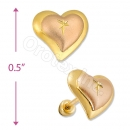 Orotex Gold Layered two tone Stud Earring
