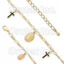 GLBR 005 Gold Layered Tri-color Bracelet
