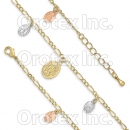 GLBR 006 Gold Layered Tri-color Bracelet