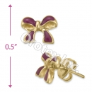 GLES 002 Gold Layered Stud Earrings