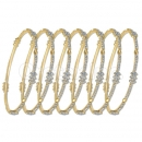 Indian Gold Plated CZ Semanario Bangle