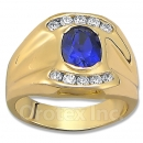 Orotex Gold Layered Blue Sapphire Men's Ring