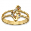 Orotex Gold Layered CZ Kid's Ring