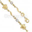 KB 002 Gold Layered CZ Kids Bracelet