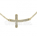 N 003 Gold Layered CZ Necklace