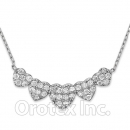 925 Sterling Silver Cz Necklace