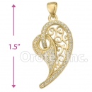P 001 Gold Layered CZ Charm