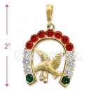 Gold Layered Cz Eagle Charm