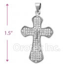 925 Sterling Silver Cz Cross Charm